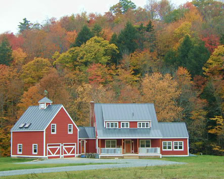Dave dutton construction custom timber frame vermont home for Home builders in vermont